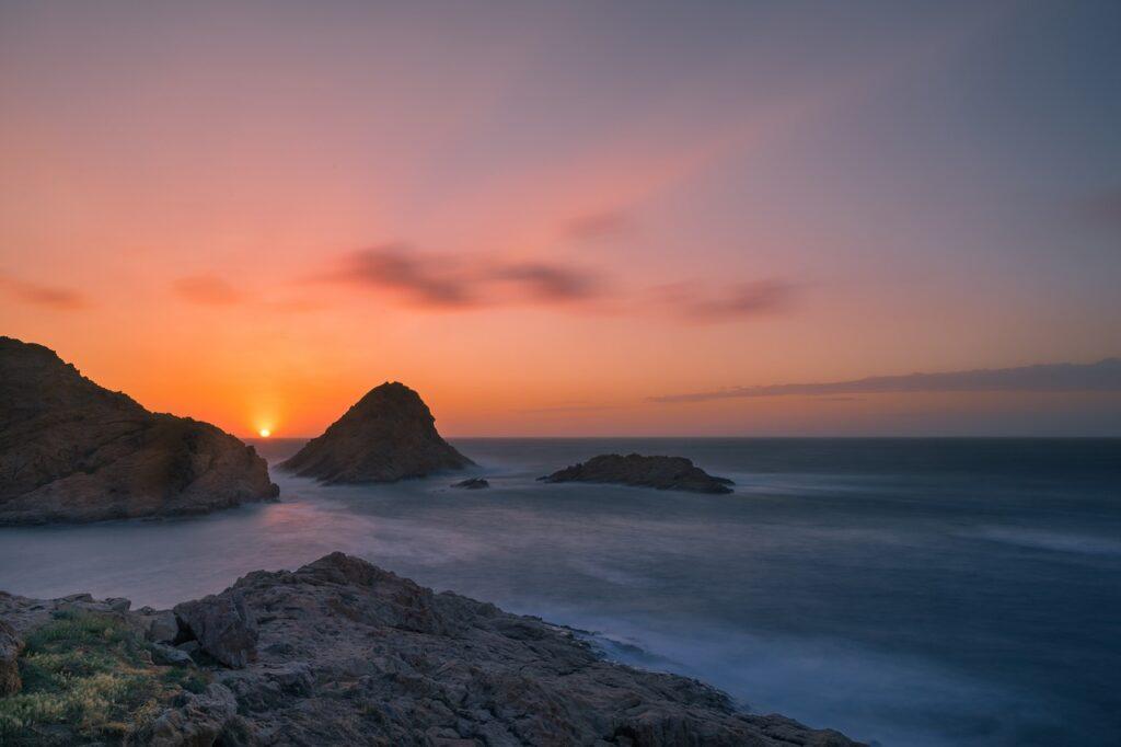 background, sunset, abendstimmung